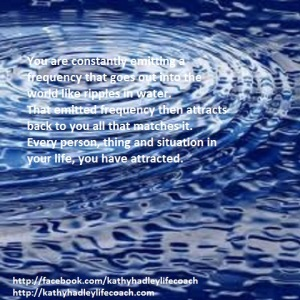 ripples of water go our and attract back quote